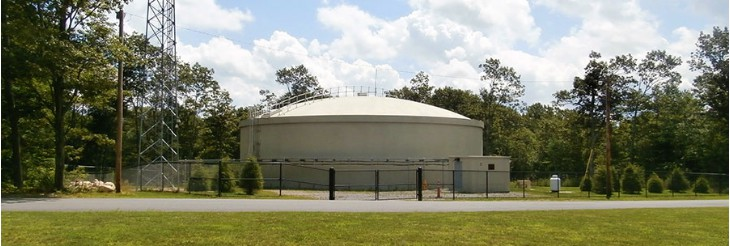 Our Town's New Water Holding Tank atop Meetinghouse Hill